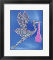 Stork Girl Framed Print