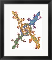 Framed Celtic Knot Lizards