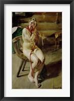 Framed Nude Braiding Her Hair, 1907