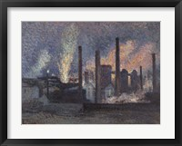 Framed Factories Near Charleroi, 1897