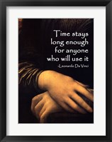 Framed Time Stays -Da Vinci Quote