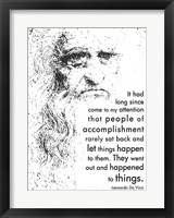 Framed People of Accomplishment -Da Vinci Quote