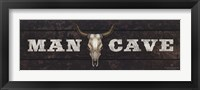 Framed Man Cave - Bull