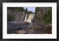 Framed North Shore Waterfall And Lake I