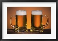 Framed Beer Mug Duo On Bar