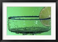 Margarita Glass And Lemon Closeup II Framed Print