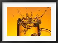 Glass Mug On Bar Splashing II Framed Print