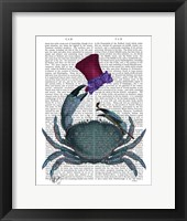 The Dandy Crab Framed Print