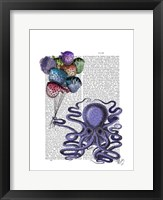 Octopus and Puffer Fish Balloons Framed Print
