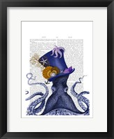 Octopus Nautical Hat Framed Print
