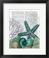 Starfish Under the Sea Framed Print