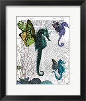 Seahorse Trio With Wings Framed Print
