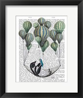 Penguin in Hammock Balloon Framed Print