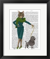 Cat and Poodle Framed Print