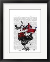 British Afternoon Tea Hat Framed Print