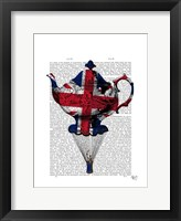 Union Jack Flying Teapot Framed Print