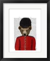 Guardsman Bear Framed Print