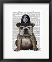 Bulldog Policeman Framed Print