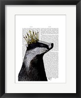 Badger King I Framed Print