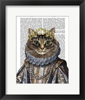 Cat Queen Framed Print
