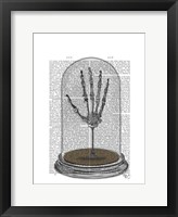 Skeleton Hand In Bell Jar Framed Print
