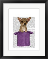 Chihuahua in Top Hat Framed Print