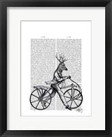 Dandy Deer on Vintage Bicycle Framed Print