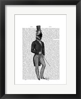 Dinosaur TRex Man 2 Framed Print