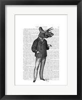 Triceratops Man 1 Dinosaur Framed Print