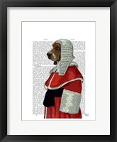 Basset Hound Judge Portrait I Framed Print