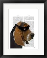 Basset Hound Ninja Framed Print