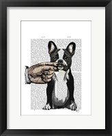 French Bulldog and Finger Moustache Framed Print