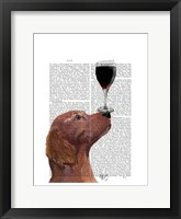 Red Setter Dog Au Vin Framed Print