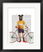 Greyhound Cyclist Framed Print