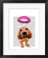 Bloodhound With Angelic Pink Halo Framed Print