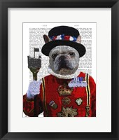 Bulldog Beefeater Framed Print