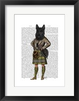 Scottish Terrier in Kilt Framed Print