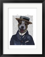 Jack Russell in Boater Framed Print