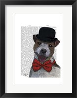 Framed Jack Russell Union Jack