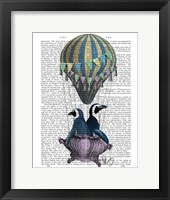 Flying Penguins Framed Print