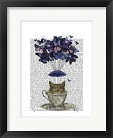 Owl In Teacup Framed Print