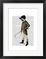 Badger The Rider Full I Framed Print