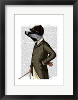 Badger The Rider Portrait Framed Print