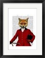 Fox Hunter 2 Portrait Framed Print
