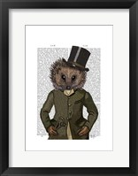 Hedgehog Rider Portrait Framed Print