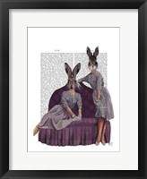 Rabbits in Purple Framed Print