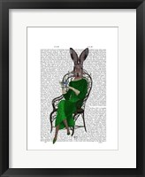 Lady Bella Rabbit Taking Tea Framed Print