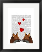 Foxes in Love Framed Print