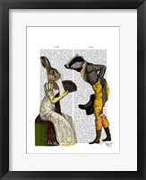 Look Of Love Regency Badger & Hare Couple Framed Print