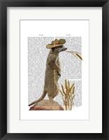 Meerkat Cowboy Framed Print